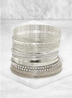 Plus Size Metallic Mesh Glitter Bangles - 3194067257807