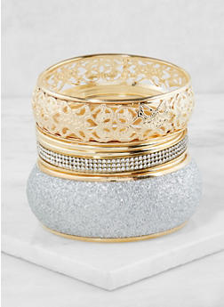 Multi Size Assorted Bangles - 3194072695756