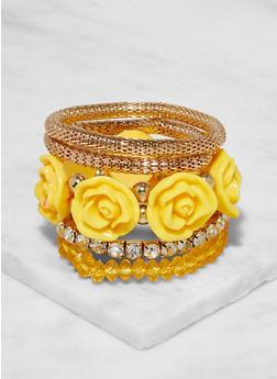 Set of 5 Beaded Stretch Bracelets - 3194072697911