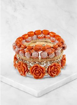Rose Stretch Bracelets Set - 3194073843908