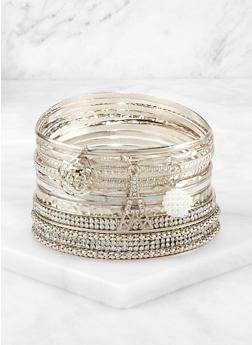 Plus Size Paris Charm Bangles - 3194073843989