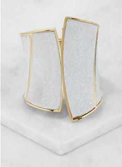 Metallic Glitter Cuff Bracelet - 3194074171922