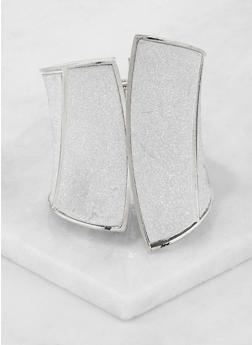 Plus Size Metallic Glitter Cuff Bracelet - 3194074172291