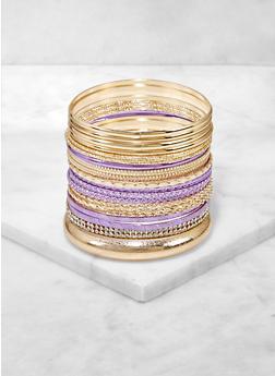 Colored and Rhinestone Metallic Bangles - 3194074974020