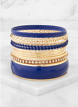 Plus Size Twisted Bangles Set - 3194074974049