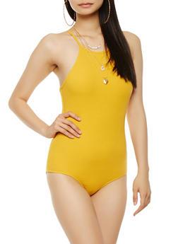 Rib Knit Bodysuit - 3307054260408