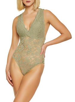 Scalloped Lace Bodysuit - 3307054269675
