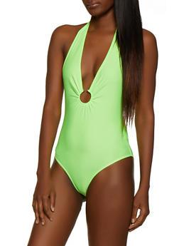 Spandex Halter Bodysuit - 3307058752637