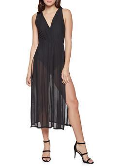 Mesh Overlay Bodysuit - 3307074295058