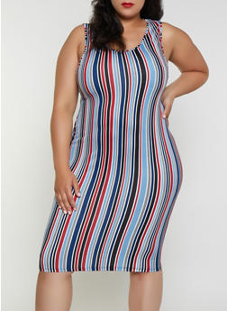 Plus Size Striped Tank Dress | 3390074281164 - 3390074281164