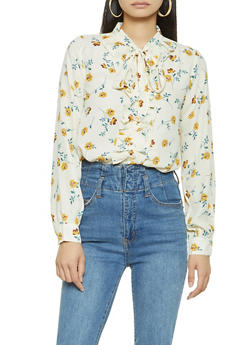 Ruffled Floral Blouse - 3401054211436
