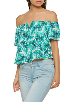 Printed Off the Shoulder Top - 3401054215682