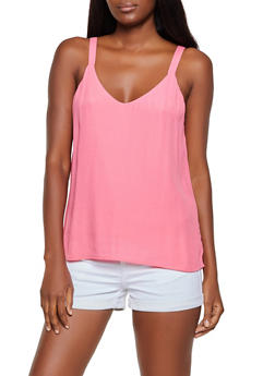 Solid Crepe Knit Cami - 3401068193418