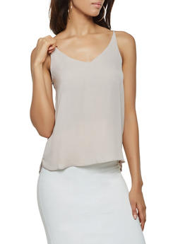 Solid V Neck Cami - 3401068194030