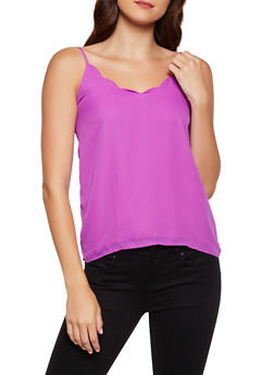 Scalloped V Neck Cami - 3401068197402