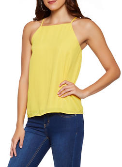 Crepe Knit Square Neck Cami - 3401068197427