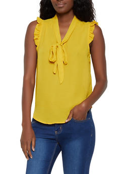 Sleeveless Tie Neck Blouse | 3401069390904 - 3401069390904