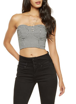 Houndstooth Bustier - 3401069391105
