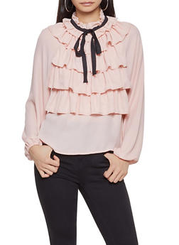 Ruffle Front Blouse - 3401069391120