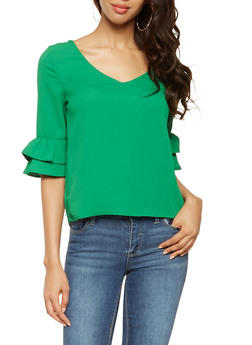 Tiered Sleeve Blouse - 3401069392276