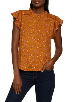 Floral Crochet Insert Blouse - 3401069392721