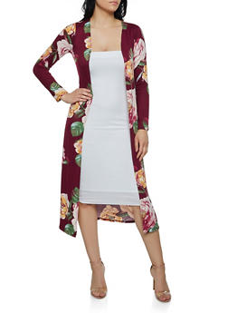 Floral Soft Knit Duster - 3401072246589