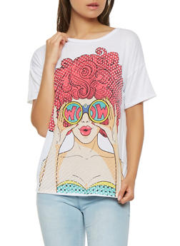 Wow Pop Art Graphic Tee - 3402061350133