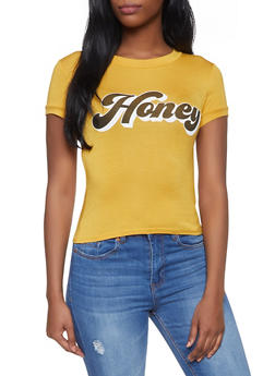 Honey Graphic Tee - 3402061350222