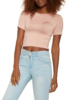 Foil Graphic Cropped Tee - 3402061354160