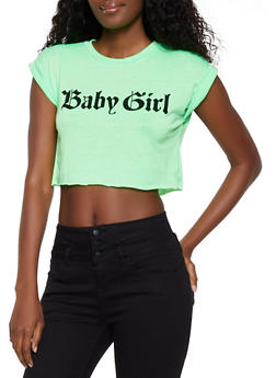 Baby Girl Soft Knit Crop Top - 3402061354242