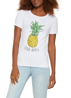 Pineapple Graphic Tee - 3402061354947