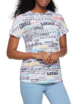 Savage Graphic Soft Knit Tee - 3402061355105