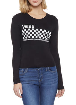 Good Vibes Checkered Tee - 3402061355183
