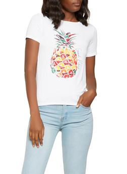 Pineapple Graphic Tee - 3402061355947