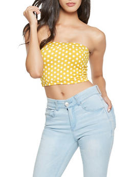 Polka Dot Tube Top - 3402061356244