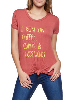 I Run On Coffee Chaos and Cuss Words Tee - 3402061356688