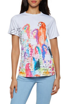 Watercolor Graphic Tee - 3402061357105