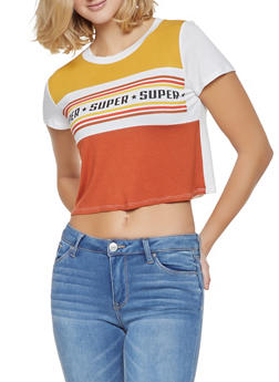 Super Graphic Color Block Tee - 3402061357582