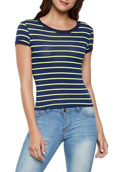 Striped Soft Knit Tee | 3402061357775 - 3402061357775