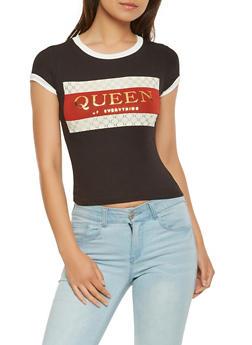 Queen Graphic Ringer Tee - 3402061358061