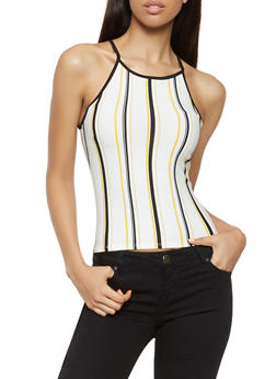 Striped Soft Knit Cami - 3402061358314
