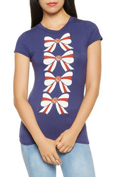 Bow Graphic Tee - 3402061359204