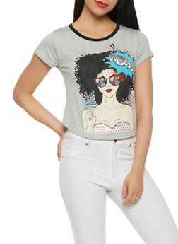 Pop Art Graphic Crop Top - 3402061359472