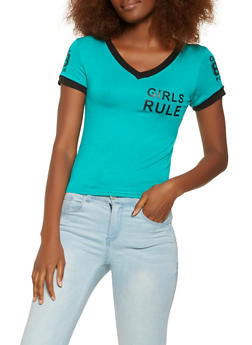 Girls Rule Graphic Tee - 3402062702361