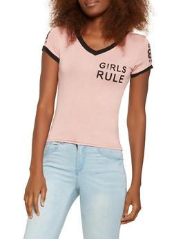 Girls Rule Graphic Tee - 3402062702361