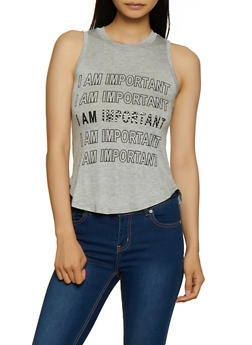 I Am Important Tank Top - 3402062702590