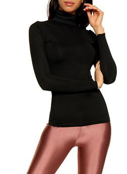 Soft Knit Turtleneck Top - 3402062702783