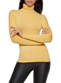 Soft Knit Turtleneck Top - 3402062702783
