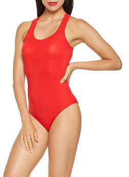 Solid Racerback Bodysuit - 3402066490146