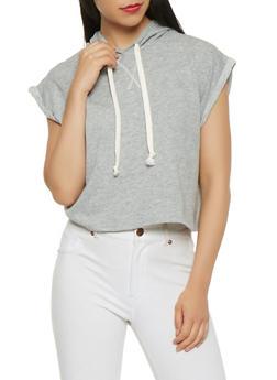 Fixed Cuff Hooded Sweatshirt - 3402066491782